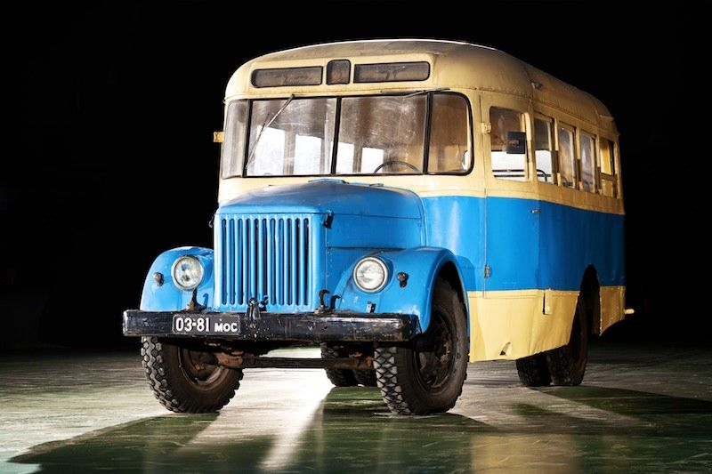 Buses made in the USSR